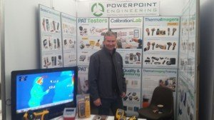 Des Cassidy representing Powerpoint Engineering at National Ploughing Championship